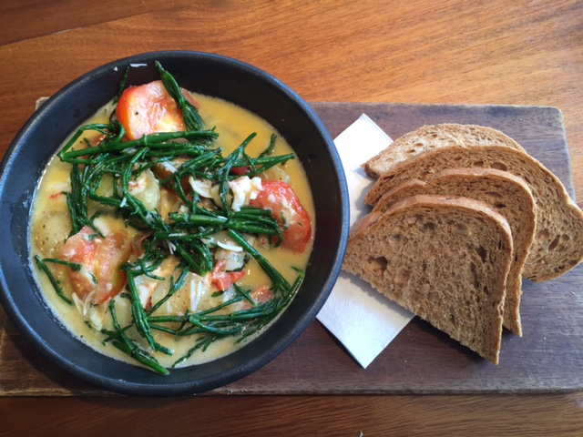 Butter-poached Native Lobster, New Potatoes & Samphire.JPG