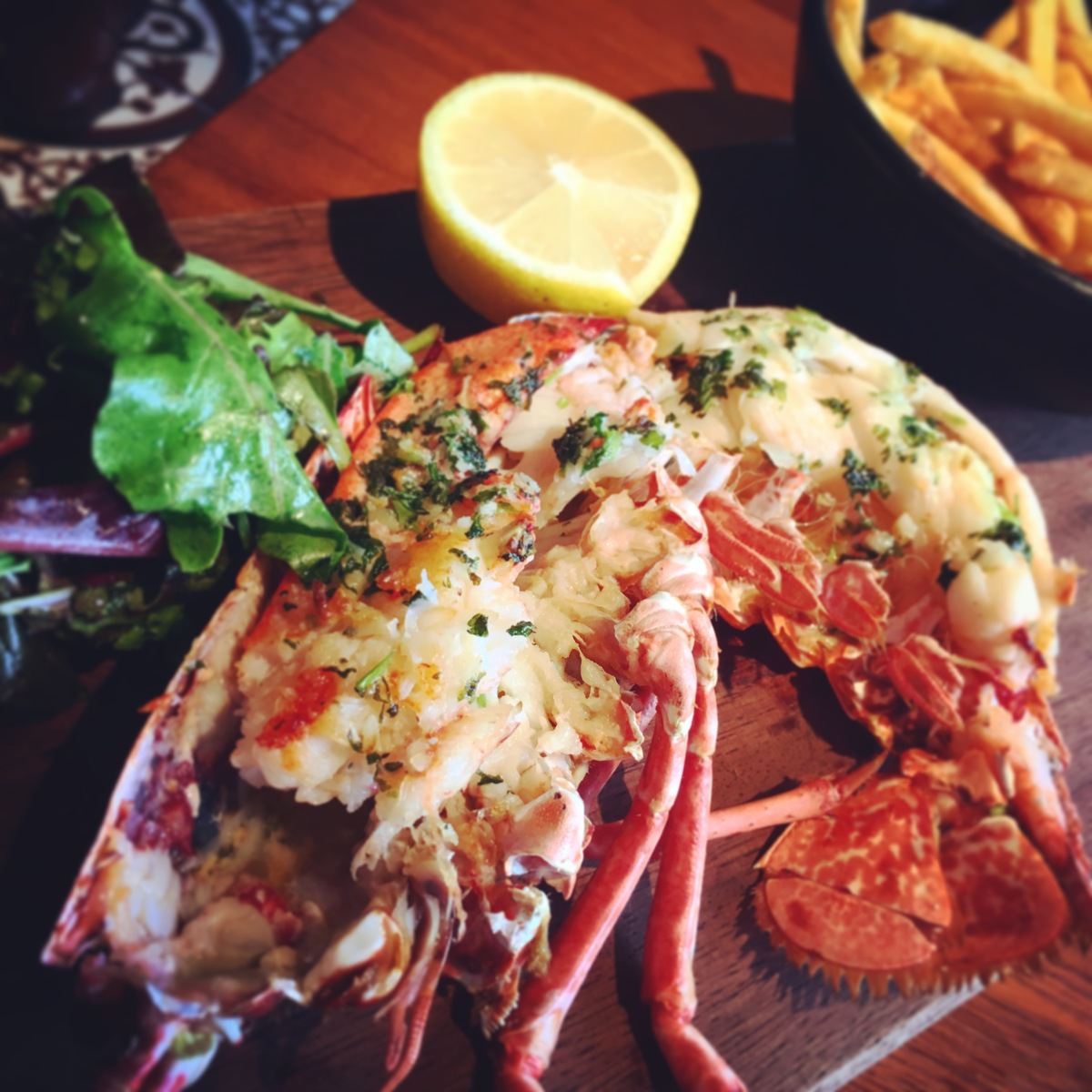 Native Grilled Lobster, Garlic Butter & Skinny Fries.JPG
