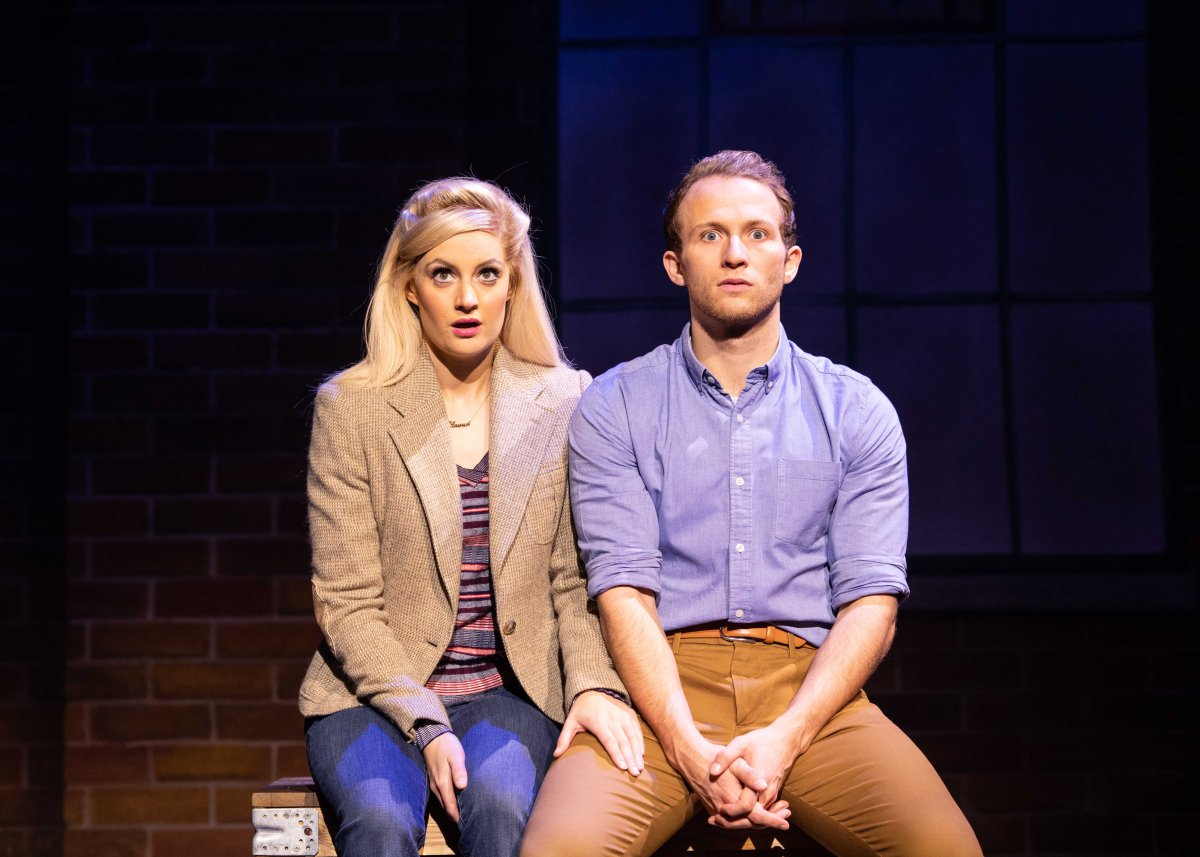 Paula Lane (Lauren) and Joel Harper-Jackson (Charlie) in Kinky Boots_Photo Helen Maybanks 2